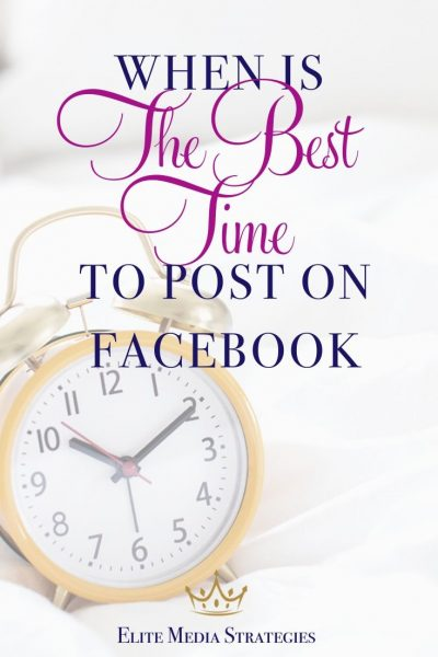 "Image of a yellow analog alarm clock with the words ""When is the best time to post on Facebook"" written across the top"